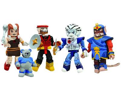 """""""ThunderCats Ho!"""" Thundercats Minimates Classic Box Set - Lynx-O, Robear Bert, Pumyra, Bengali & Ratar-O"""