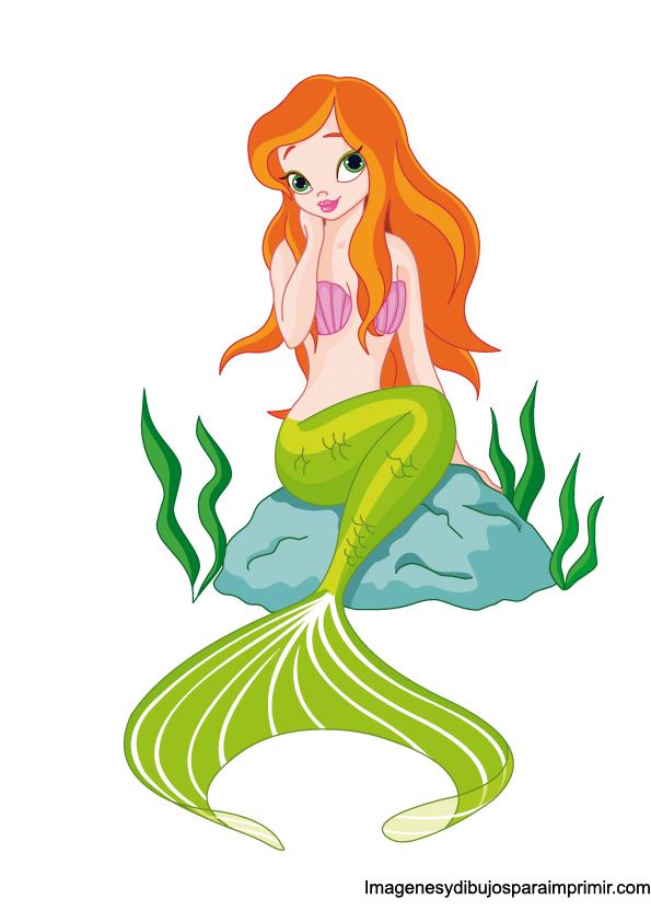 Excepcional Pagina De Color De Sirena Cresta - Dibujos Para Colorear ...