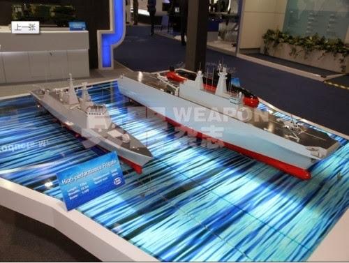 Mô hình tàu tấn công đổ bộ Trung quốc tại Triển lãm quốc phòng quốc tế Abu Dhabi lần thứ 11 và Triển lãm Hải quân lần thứ hai ngày 17 tháng 2 năm 2013