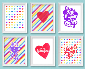 My new Rainbow Valentine's Bundle of printables is SUPER FUN!