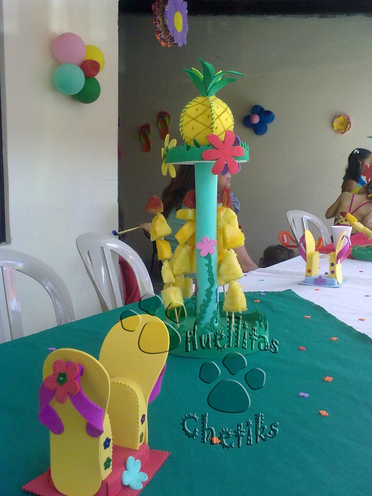 Decoracion Hawaiana Para Mesas ~ Parte de la decoracion de mesas