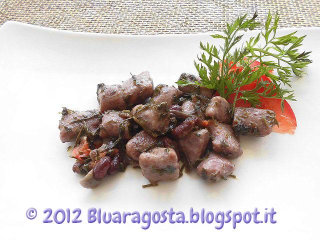 gnocchi di fagioli rossi kidney con foglie di carote