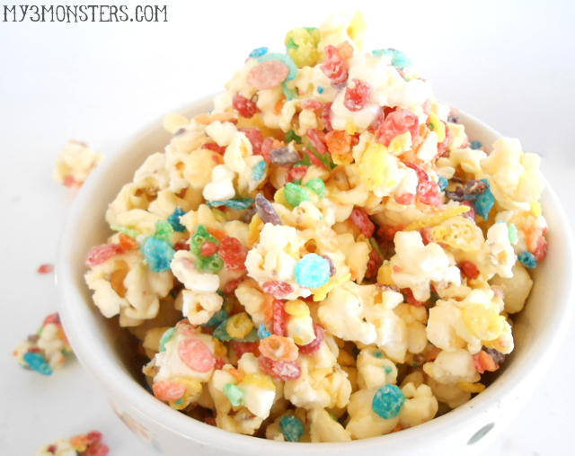Fruity Pebbles Popcorn recipe at my3monsters.com