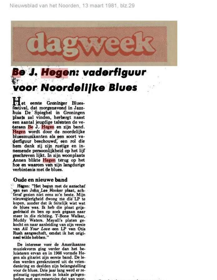 B.J. Hegen Blues Band - Door To Door