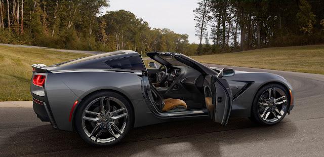 The 2014 Chevrolet Corvette Stingray side open