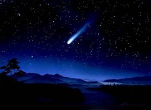 Ilustrasi bintang pari berekor sebagai tanda kemunculan satrio pingingit