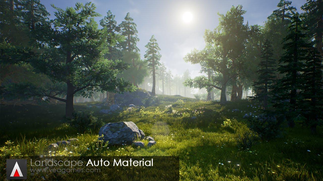 Unreal marketplace vea games landscape auto material for Soft landscape materials