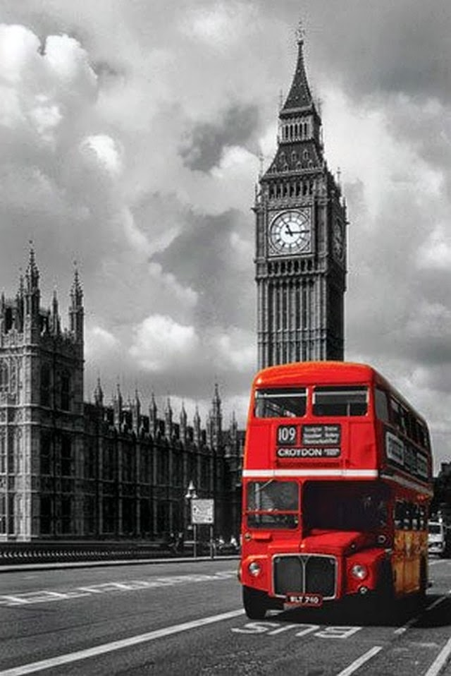 big ben red double decker bus london photography poster