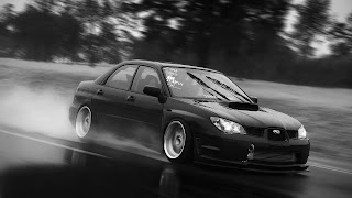 Black Subaru Rainy Day HD Wallpaper