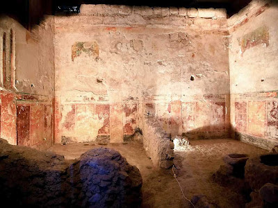 Sala da residência de Herodes recentemente recuperada