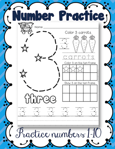 https://www.teacherspayteachers.com/Product/Number-Practice-1-10-2043792