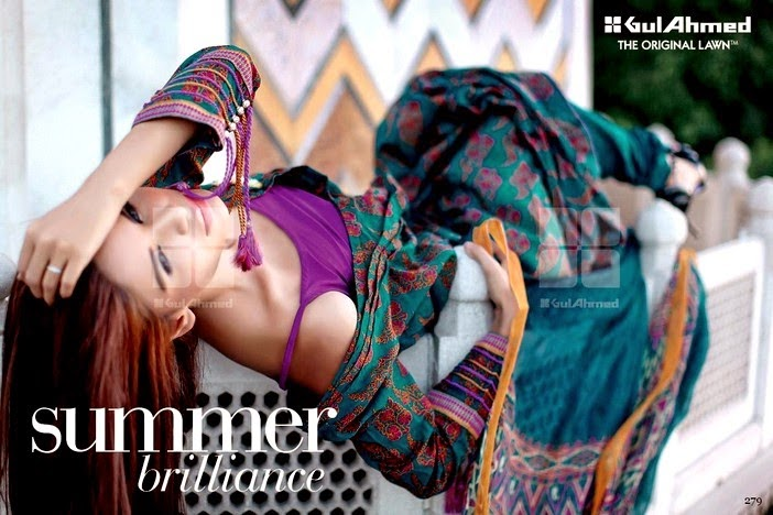Gul Ahmed New Arrivals of Summer Dresses 2014