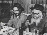 """מורנו הרב שליט""""א בצעירותו עם ר' לוי יצחק בנדר זצ""""ל"""