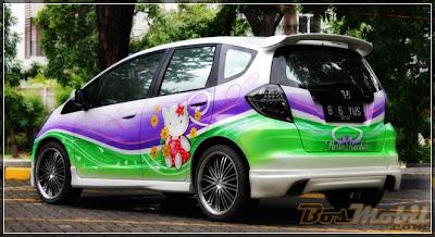 Mobil Honda Jazz Air Brush Terbaru