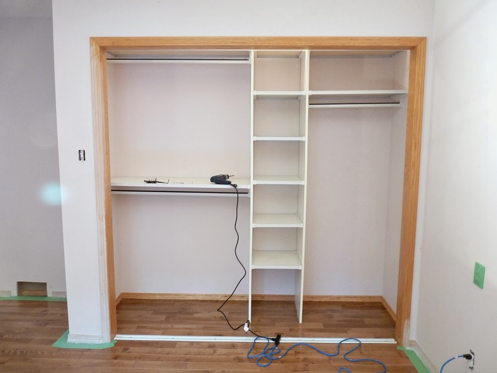 Before: Cheap Closet Organizer