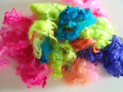 Colorful Mohair Fiber