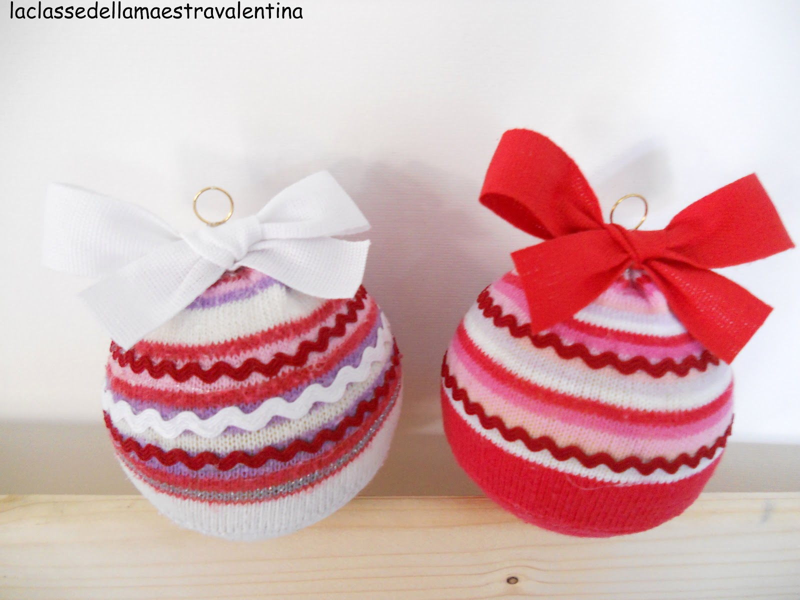 La classe della maestra valentina palline di natale riciclose for La maestra valentina
