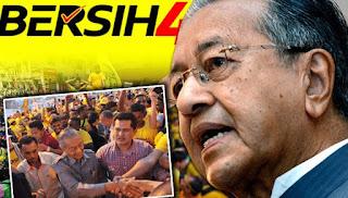 Tun M datang jengah Bersih 4.0