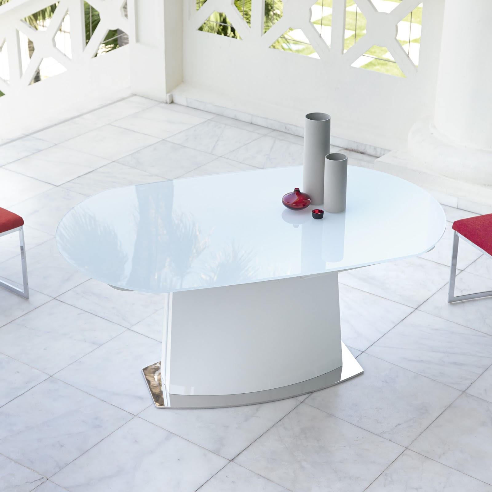 Mesas de comedor mesas de comedor extensibles de cristal - Mesas de vidrio modernas ...
