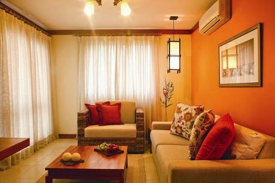 Salas color naranja salas con estilo - Combinar color naranja decoracion ...
