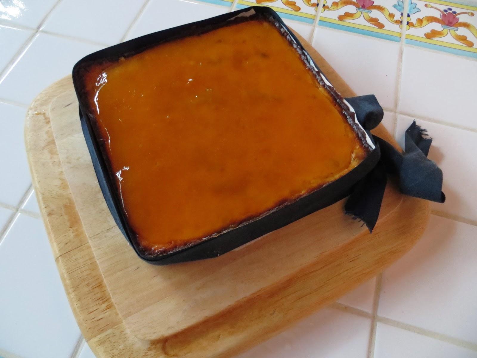 cheesecake con crema di ricotta e marmellata