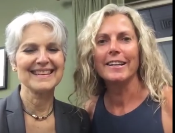 Jill Stein in Bernie land; Vermont; as part of the necessary GOTB effort.