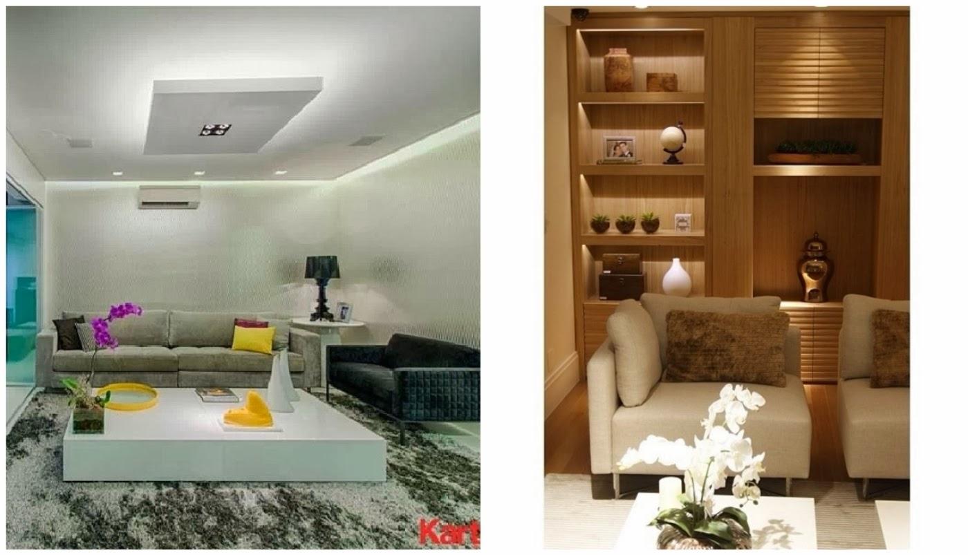 iluminação indireta @kartellsantos e iluminação de destaque @interioresdesigndecoracao