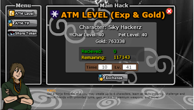 Cheat Ninja Saga Terbaru Hack ATM Exp and Gold 2015