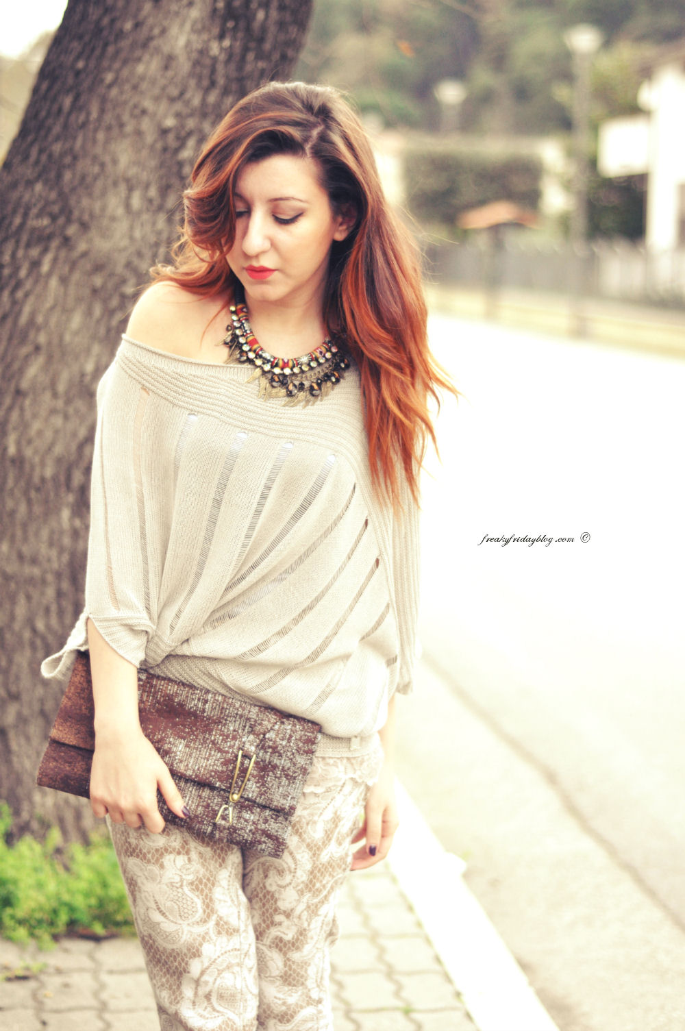 Un outfit beige - Freaky Friday Fashion Blogger Sabrina Musco