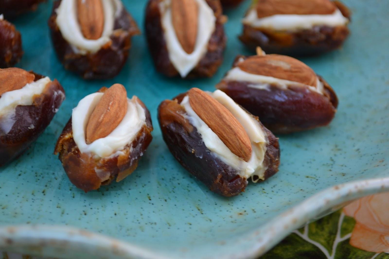 K&K Test Kitchen: Secret Recipe Club: Almond Stuffed Dates.