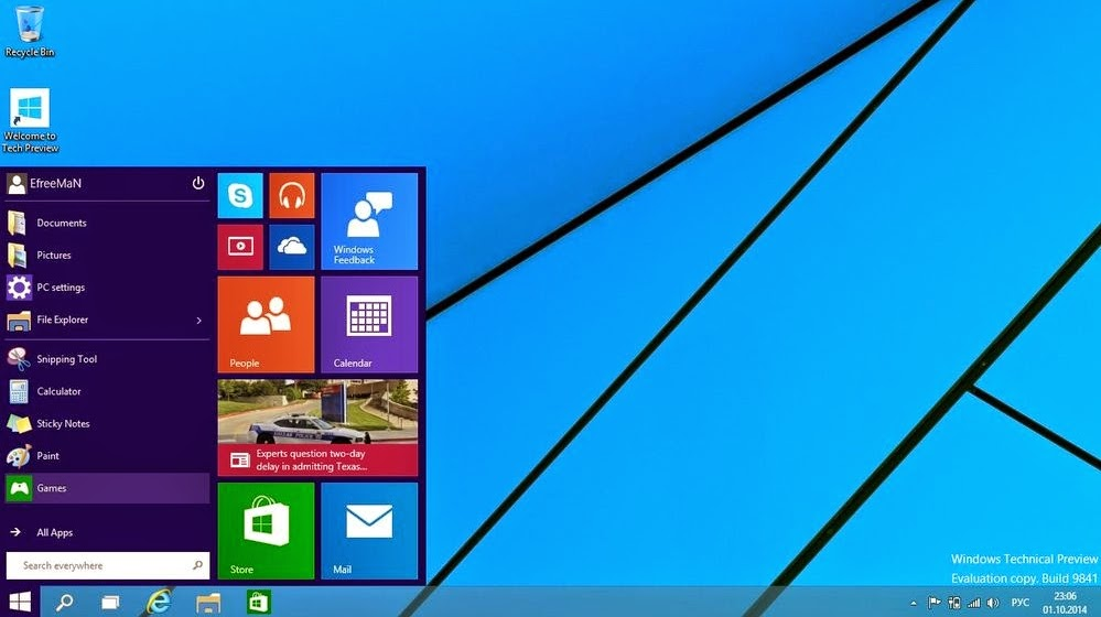 Windows 10 Technical Preview Full Key