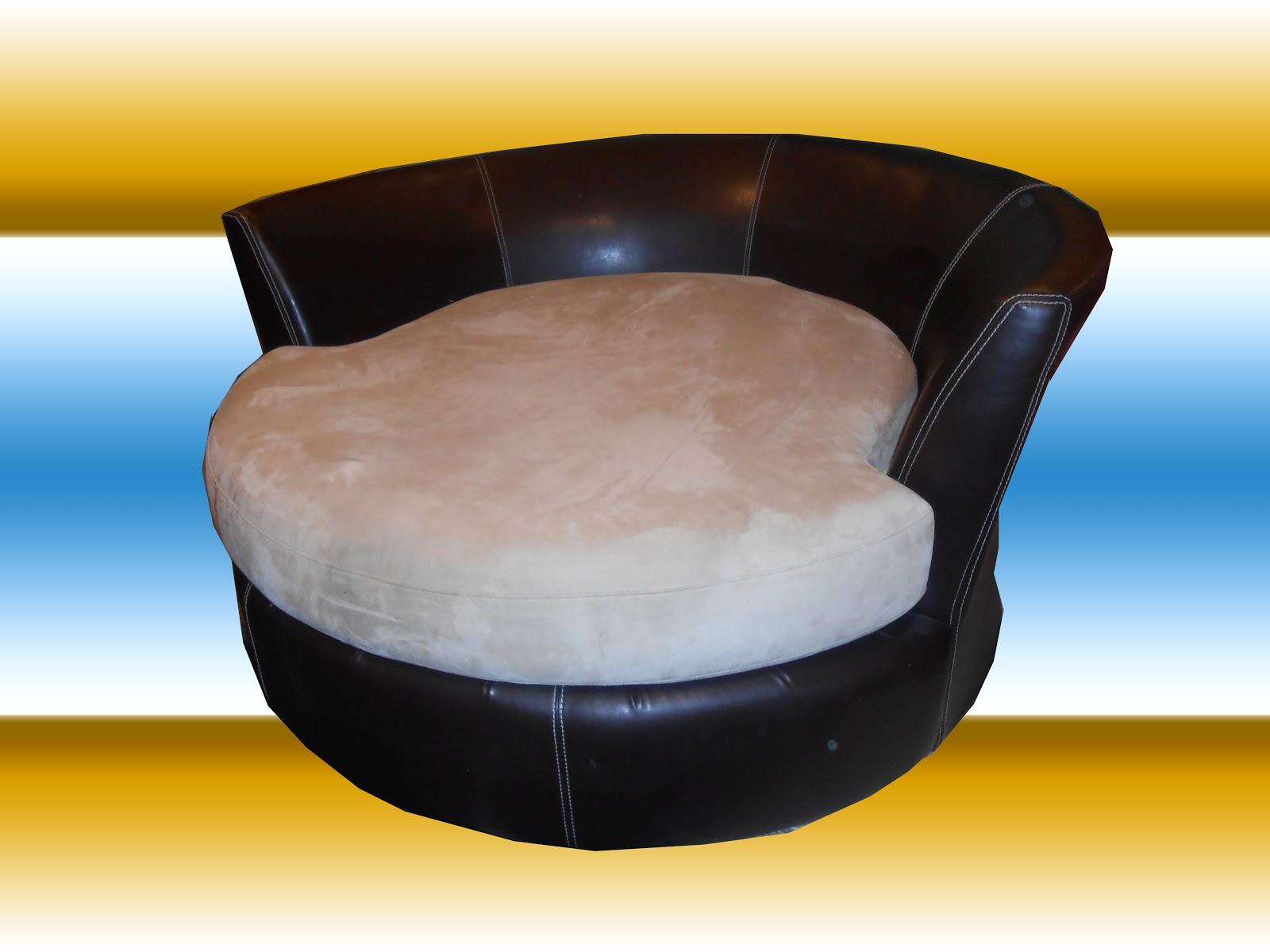 Uhuru Furniture Collectibles Round Swivel Loveseat Sold