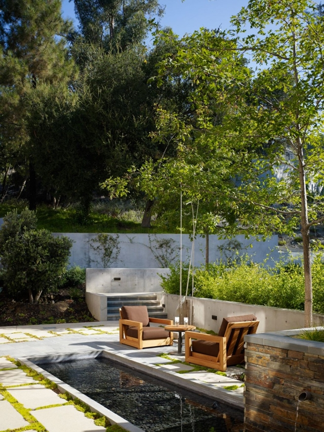 Two chairs in the backyard