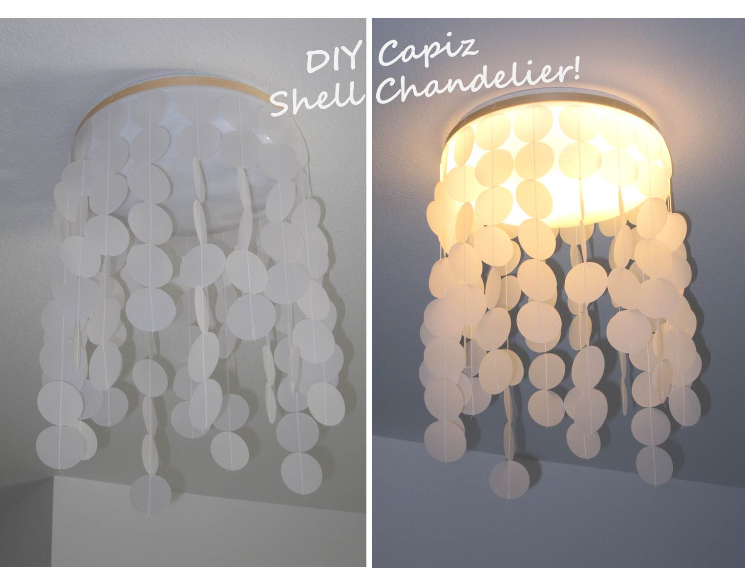 Inspired whims designer look alike diy capiz shell for Shell diy