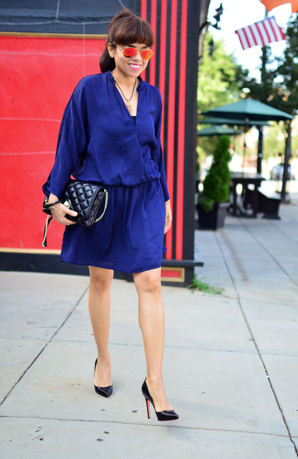 Outfit with cobalt blue