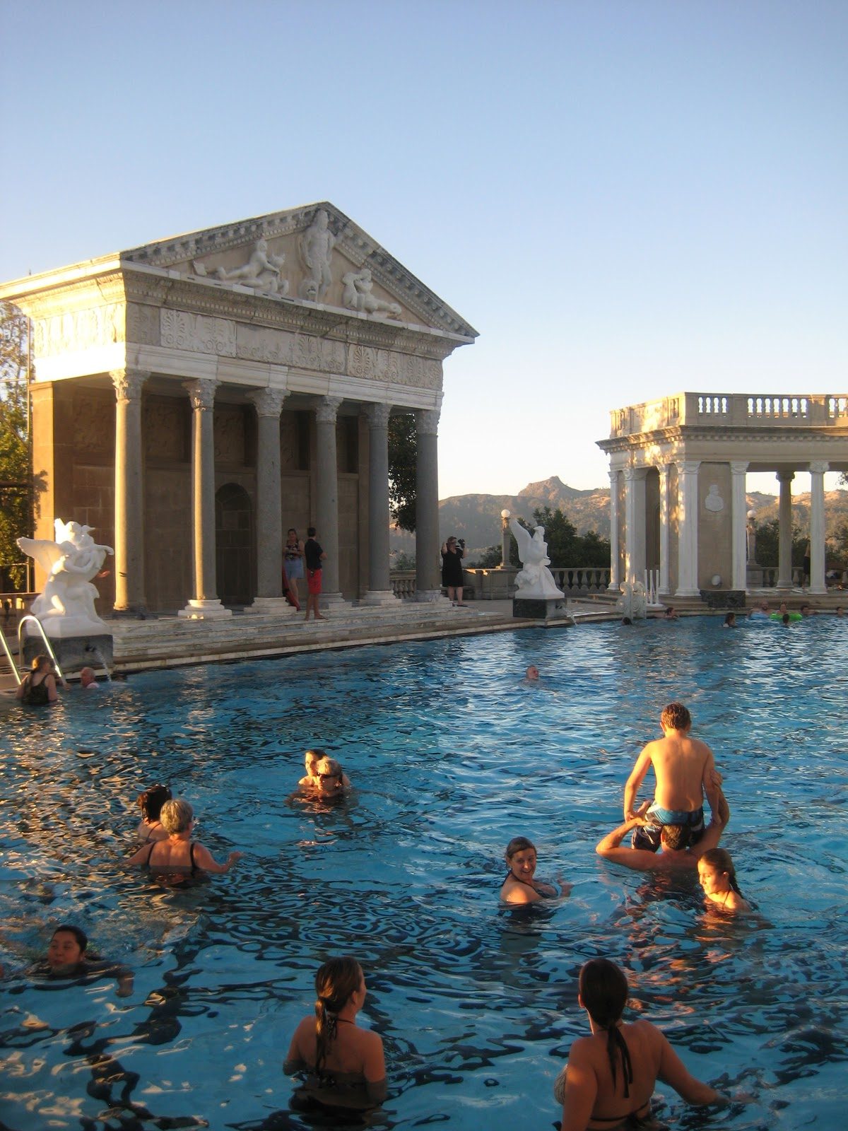 On Swimming At Hearst Castle In A Time Of Economic Protest Hustling Roses