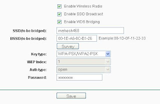 WDS bridging wifi range extender settings