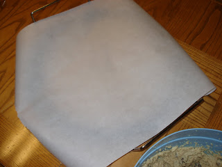 Cover stone with parchment paper