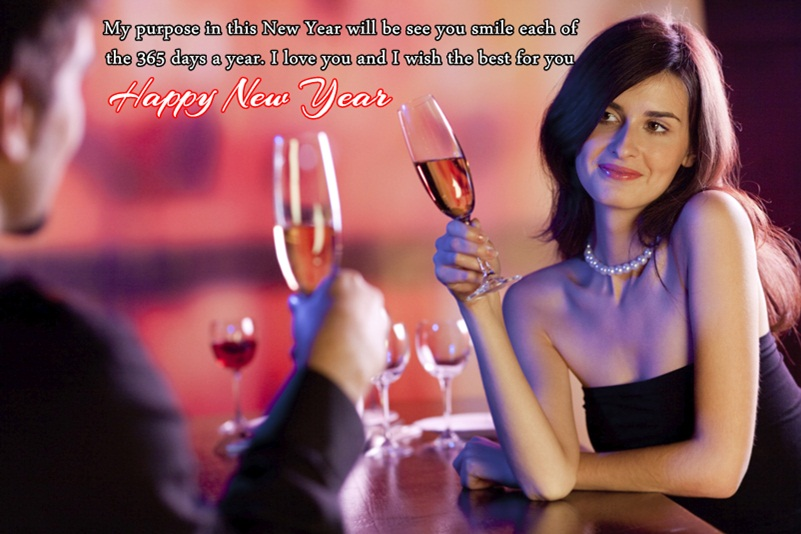 New Year Celebration Picture of Couple