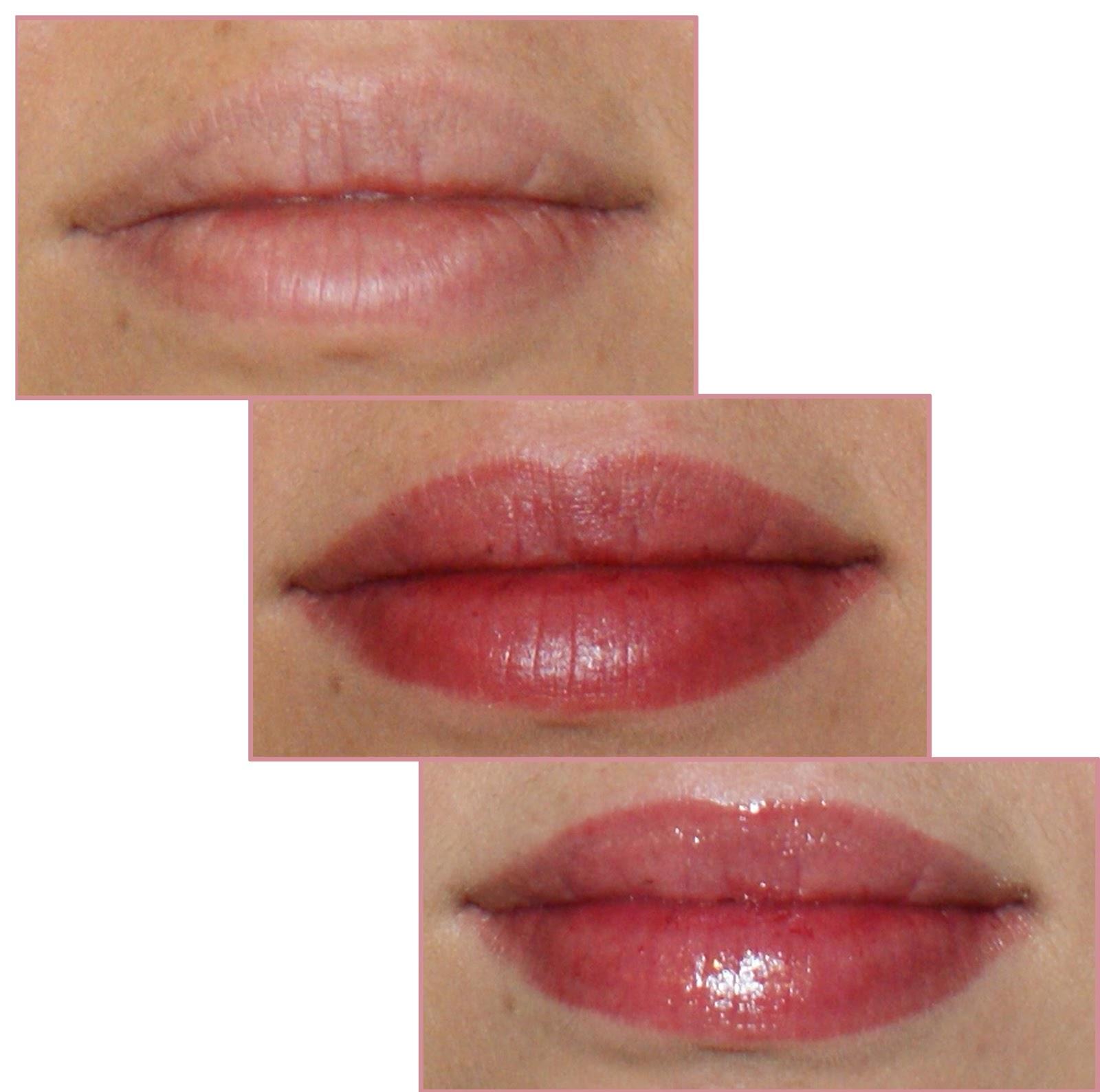 bouche nue avec 2 couches de feutre avec du baume carmex - Baume Lvres Color