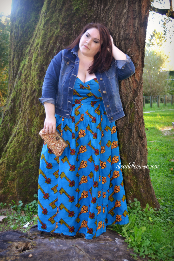 outfit plus size maxiabito afro