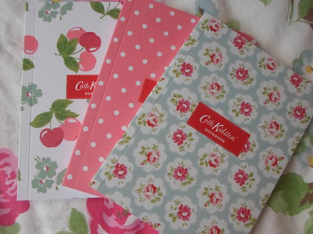 3 Cath Kidston notebooks
