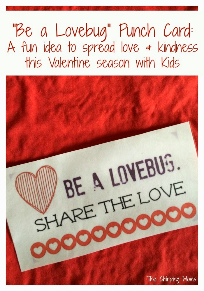 Love & Kindness Printable Punch Card for Kids || The Chirping Moms
