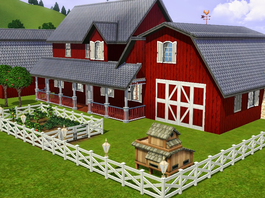 Sims and just stuff cool old barn remodel for sims 3 by for Classic house sims 3