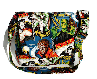 Hollywood Monster Cool Trendy Punk Rock Diaper Bag by Baby Rebellion