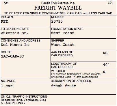 waybill template