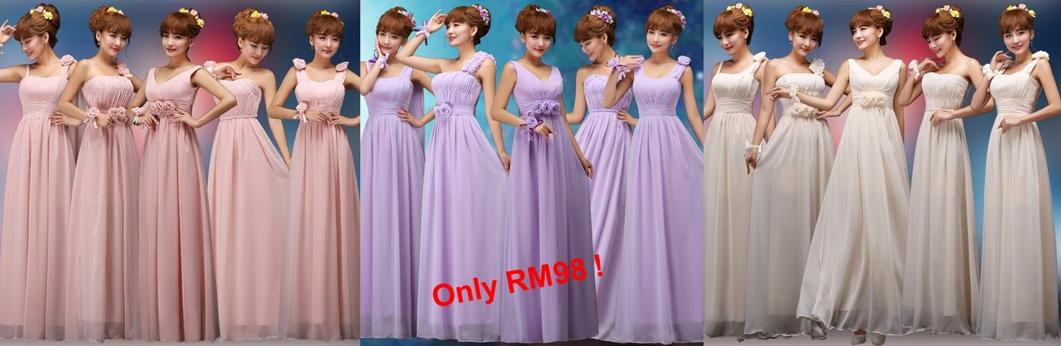 Only RM98 Five-Design Bridesmaids Maxi Dress