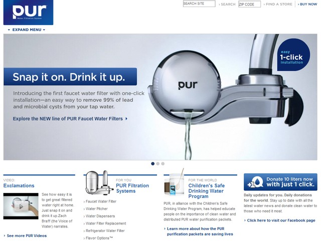 PUR Drinking Water Filters