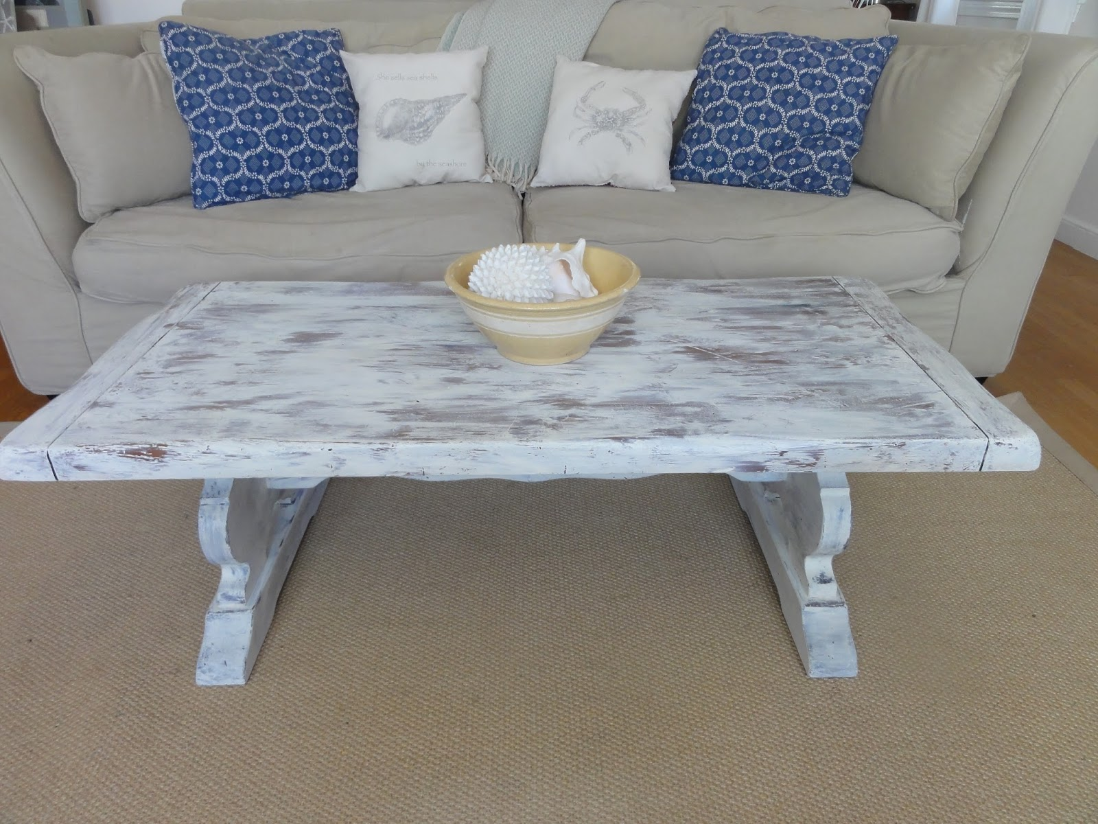 White Washed Coffee Table (After)