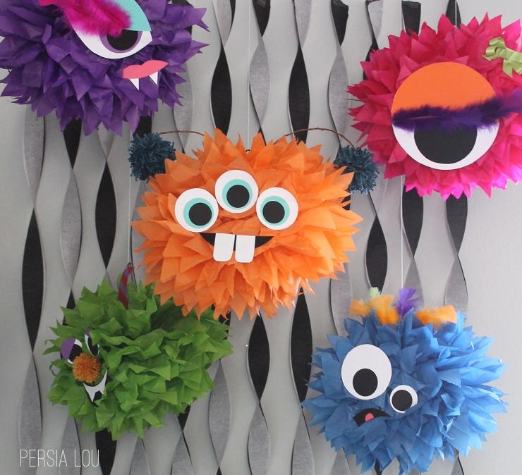 pompommonstersblog2jpg - Halloween Pom Poms
